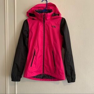 The North Face pink rain coat size XSmall